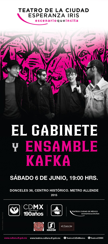 EL GABINETE Y ENSAMBLE KAFKA EN EL TEATRO DE LA CIUDAD ESPERANZA IRIS