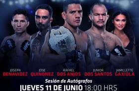 PELEADORES DE LA UFC EN FIRMA DE AUTÓGRAFOS