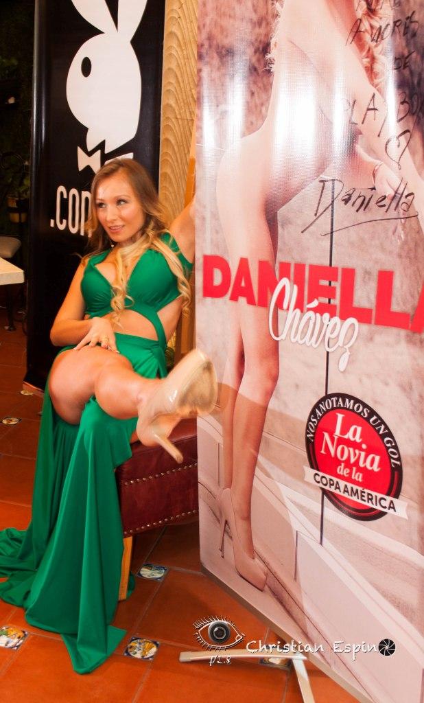 DANIELLA CHAVEZ LA NOVIA DE LA COPA AMERICA LUCE EN LAS PAGINAS DE PLAYBOY