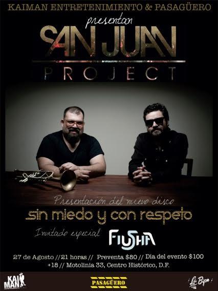 Flyer San Juan Project Pasagüero 27 agosto