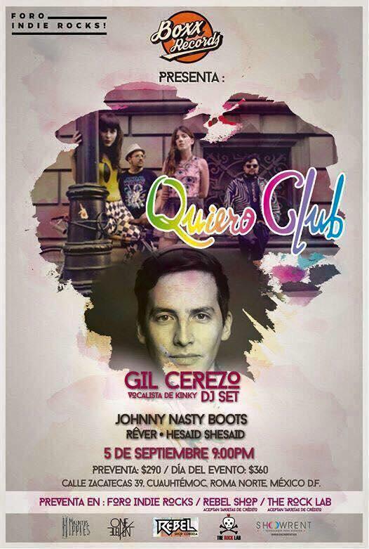 5 DE SEPTIEMBRE MUSICAL: QUIERO CLUB Y MEXICAN DUBWISER