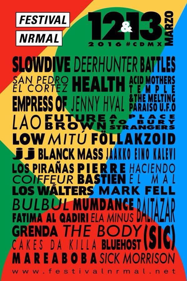 Cartel Festival Nrmal 2016