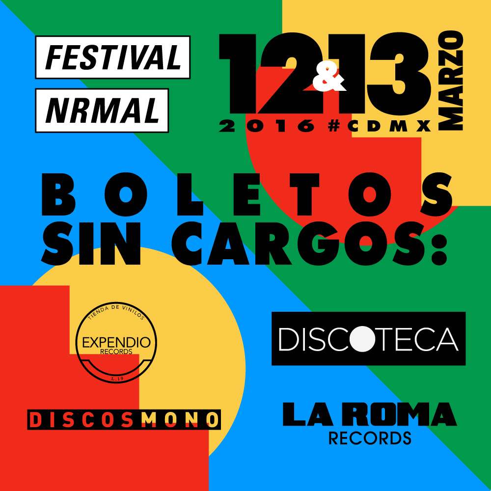 Boletos sin cargos Festival NRMAL