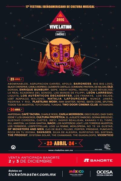 Cartel Vive Latino 2016