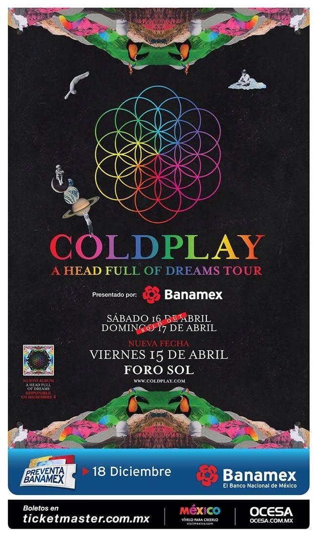 Coldplay tercer fecha
