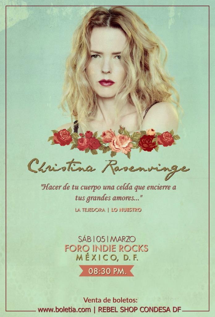 Christina Rosenvinge México 2016