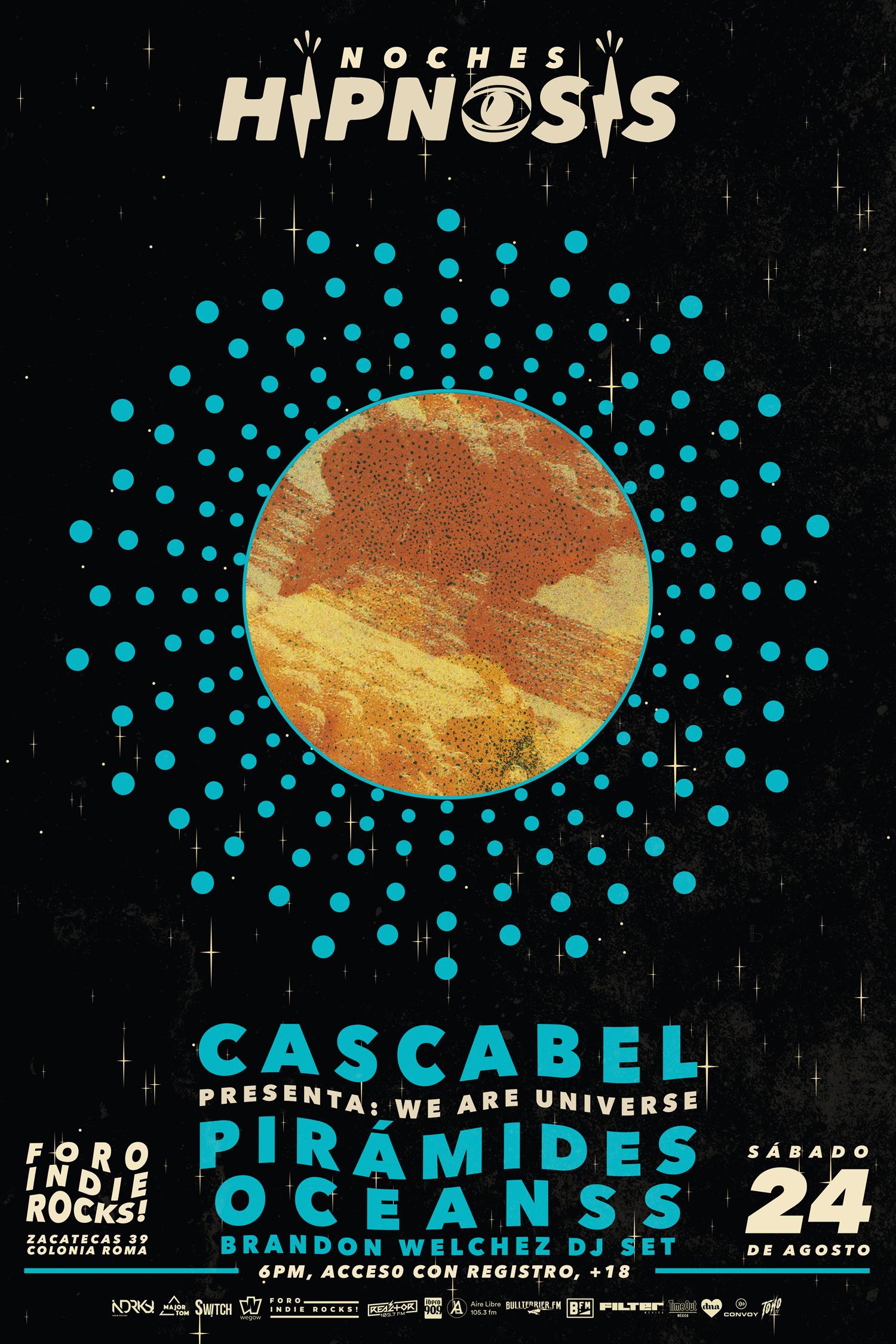 CASCABEL Y SU NUEVO DISCO WE ARE THE UNIVERSE EN NOCHES HIPNOSIS. GRATIS