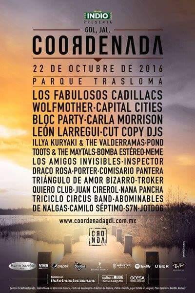 TODO LISTO PARA EL FESTIVAL COORDENADA 2016
