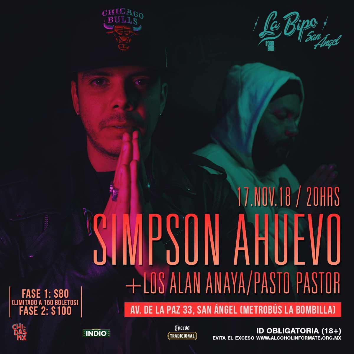 SIMPSON AHUEVO LLEGA AL FORO BIPO SAN ÁNGEL
