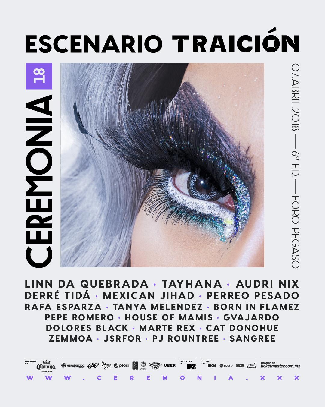 FESTIVAL CEREMONIA PRESENTA EL ESCENARIO TRAICIÓN