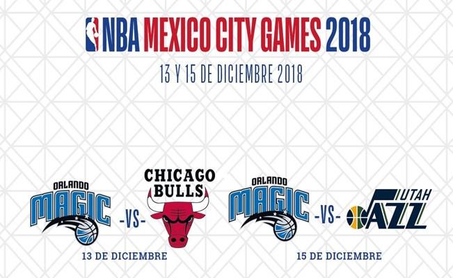 NBA MEXICO CITY GAMES 2018 RECIBEN AL MAGIC, LOS BULLS Y AL JAZZ
