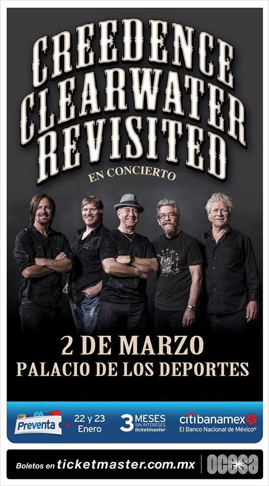 CREEDENCE CLEARWATER REVISTED REGRESAN A LA CIUDAD DE MÉXICO