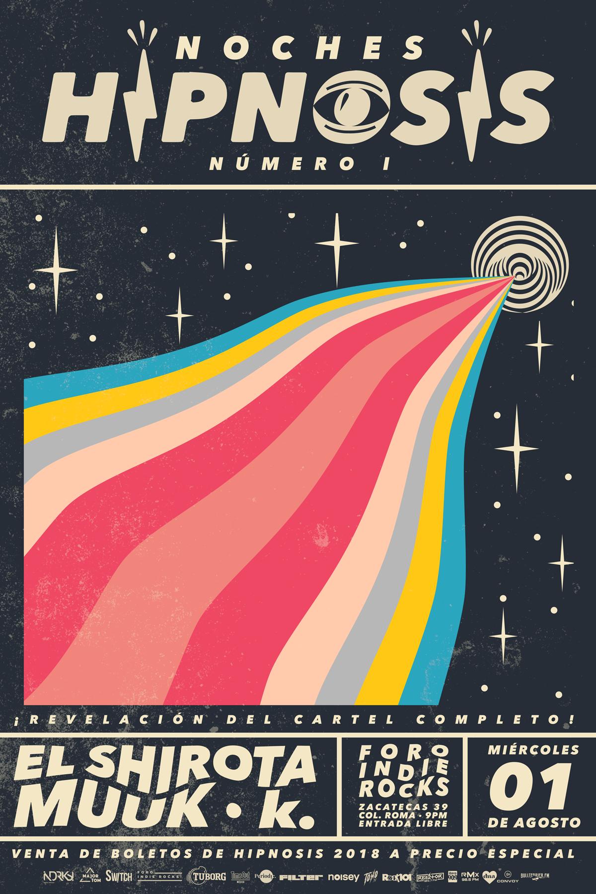 NOCHES HIPNOSIS 01. ESPERA LA REVELACIÓN DEL CARTEL COMPLETO