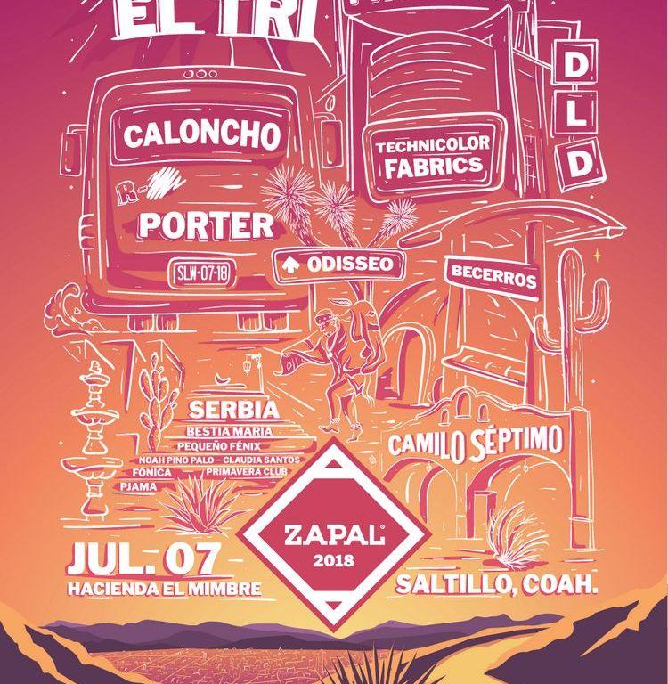 REVELAN EL CARTEL DEL FESTIVAL ZAPAL 2018