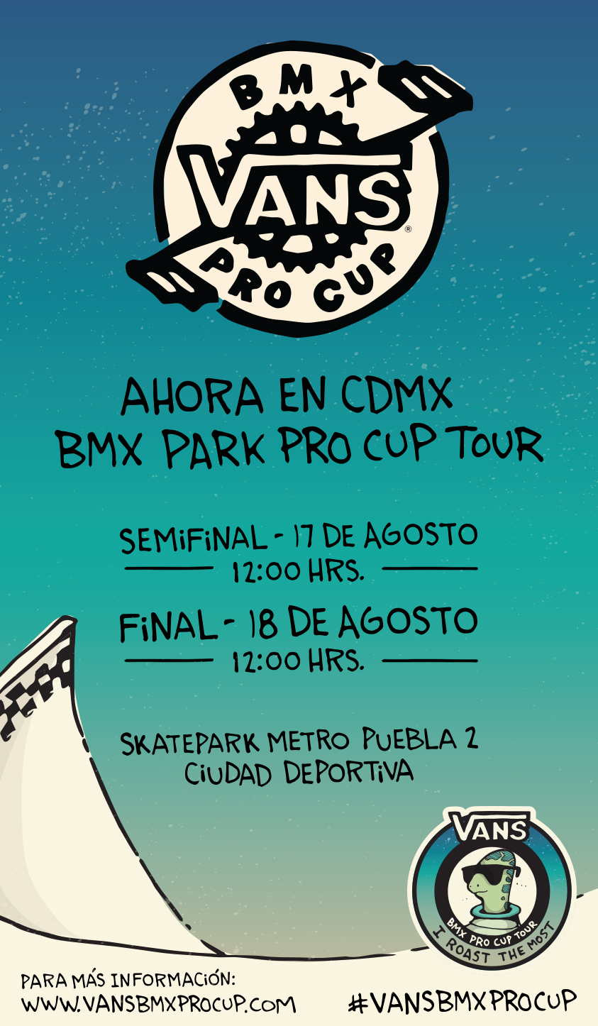VANS BMX PRO CUP ESTARÁ EN LA CIUDAD DE MÉXICO