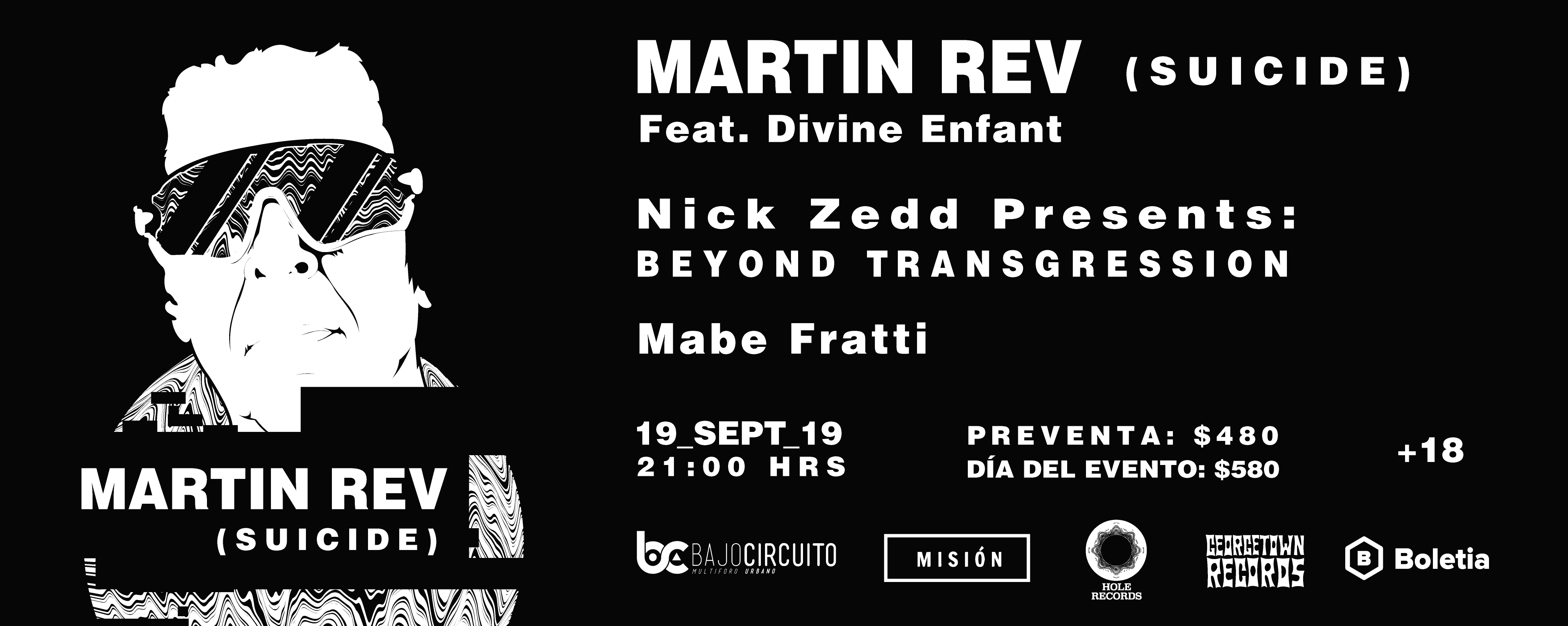 ¡MARTIN REV (SUICIDE) POR PRIMERA VEZ EN MÉXICO!