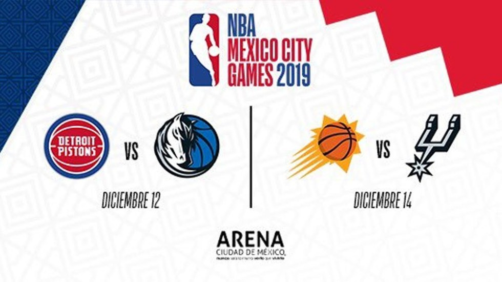 REGÍSTRATE PARA ADQUIRIR BOLETOS PARA LOS NBA MEXICO CITY GAMES 2019